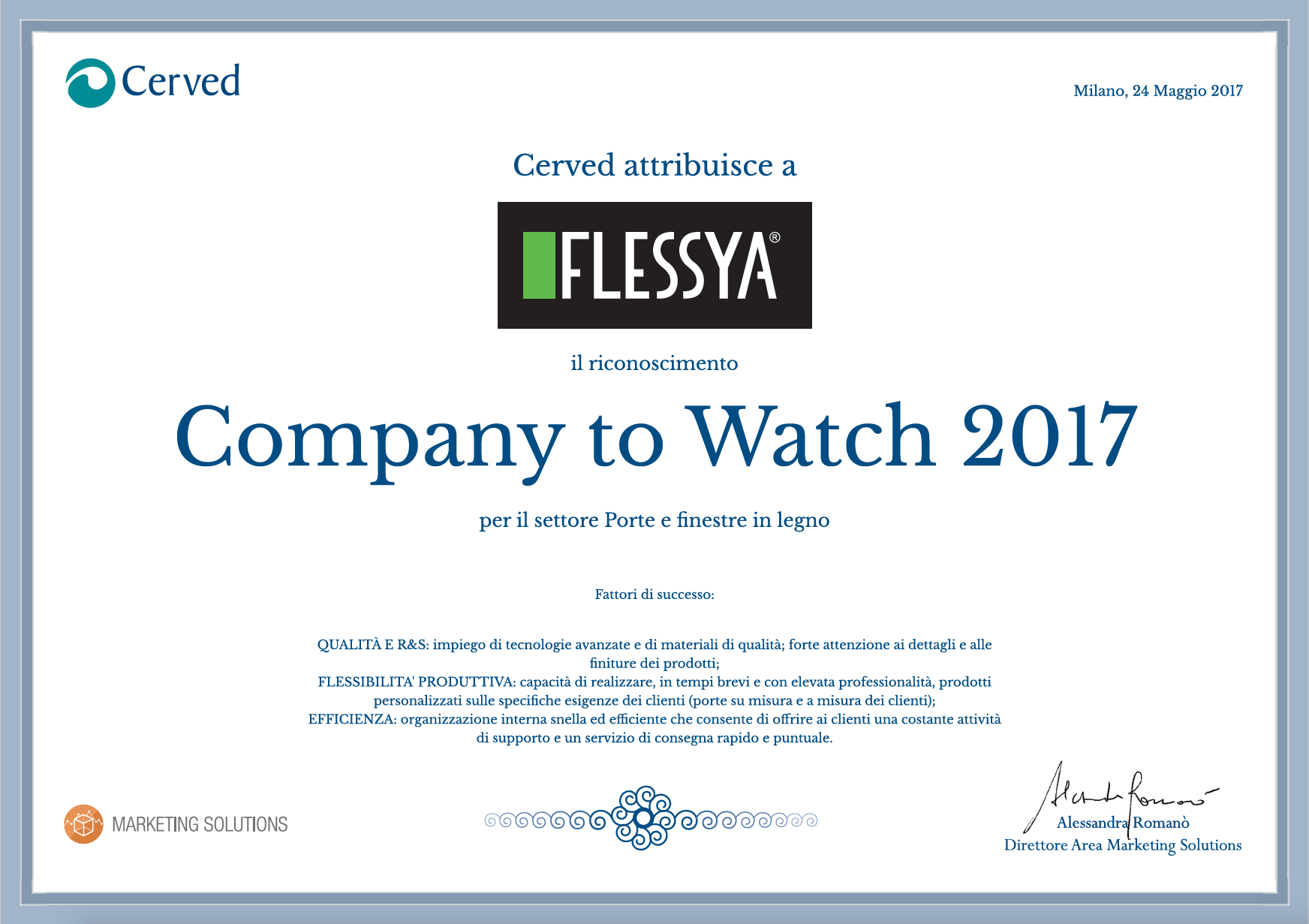 Company to Watch 2017 - Flessya